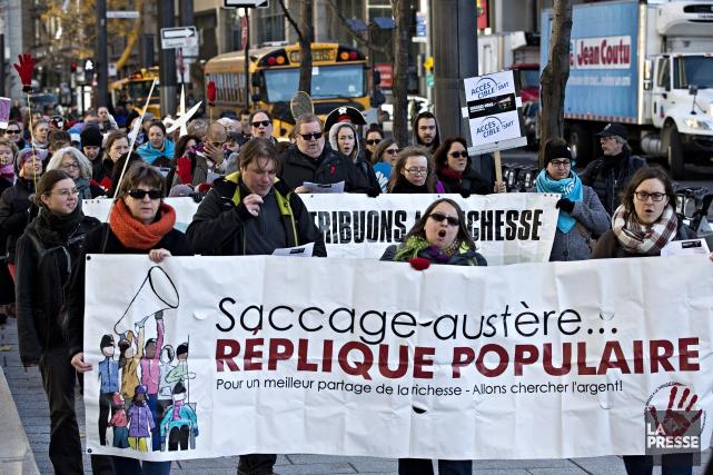 Les organismes communautaires des quatre coins du Québec unissent leurs voix... (La Presse, Patrick Sanfacon)