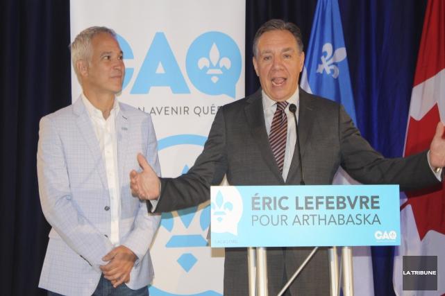 Le chef de la Coalition avenir Québec, François... (Archives, La Tribune)