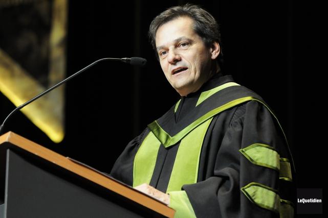 Le recteur de l'UQAC, Martin Gauthier, a annoncé... (Archives Le Quotidien, Mariane L. St-Gelais)