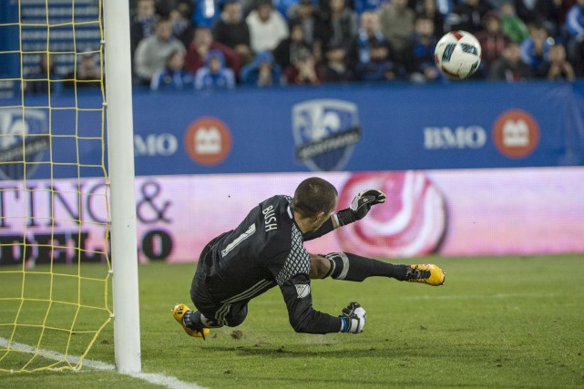 Le gardien de l'Impact, Evan Bush... (Archives, La Presse Canadienne)