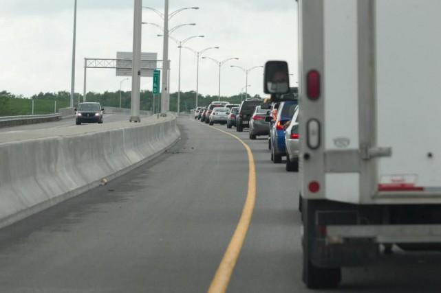 Les automobilistes qui emprunteront l'autoroute 25, entre l'échangeur... (Photo Hugo-Sébastien Aubert, Archives La Presse)