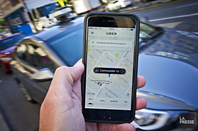 La capacité d'Uber de prendre des clients à l'aéroport de Montréal ne... (PHOTO Patrick Sanfaçon, archives La Presse)