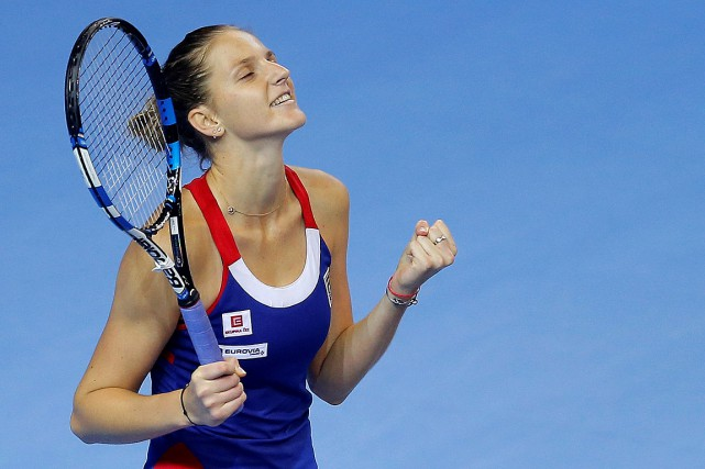 La TchèqueKarolina Pliskova abattu la Française Kristina Mladenovic6-3,... (PHOTO VINCENT KESSLER, REUTERS)