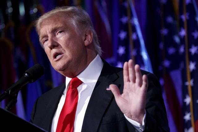 Donald Trump, nouveau président des États-Unis... (Archives AP)