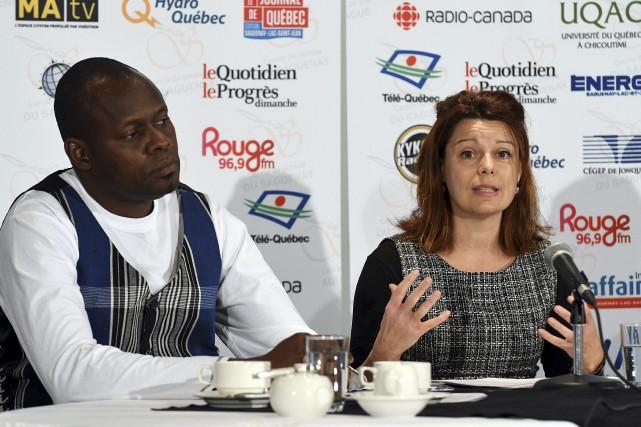 Edgar Kambire et Véronique Fortin ont insisté sur... (Le Progrès-Dimanche, Rocket Lavoie)