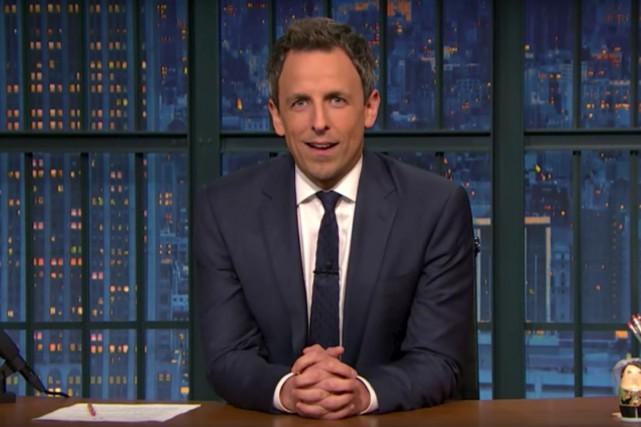 Seth Meyers a offert de soudoyer le présidentdésigné... (Image tirée d'une vidéo)