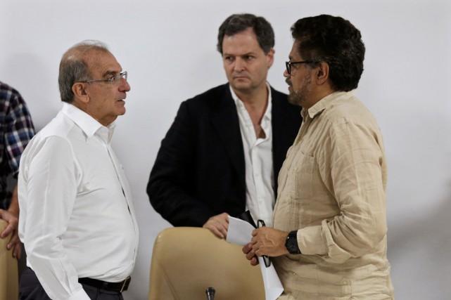 Le négociateur en chef du gouvernement Humberto de... (Photo Enrique de la Osa, REUTERS)