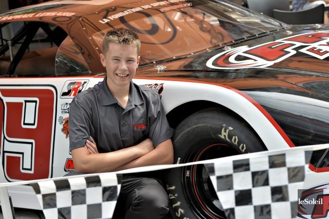 Le pilote de 15 ans Raphaël Lessard a... (Le Soleil, Patrice Laroche)