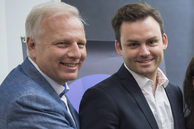 Jean-Francois Lisée et Paul St-Pierre Plamondon... (Archives La Presse Canadienne)