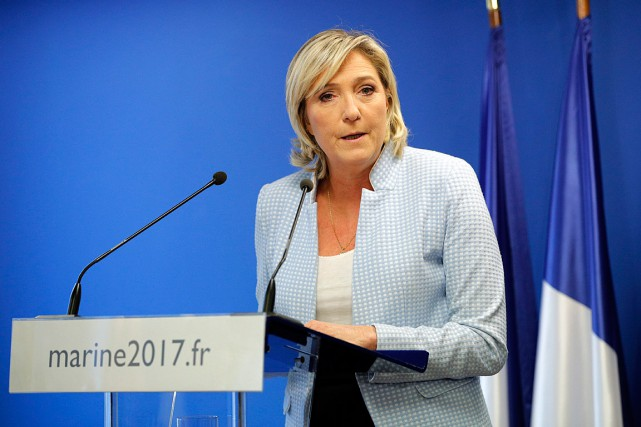 Marine le Pen... (PHOTO CHRISTOPHE ENA, ARCHIVES ASSOCIATED PRESS)