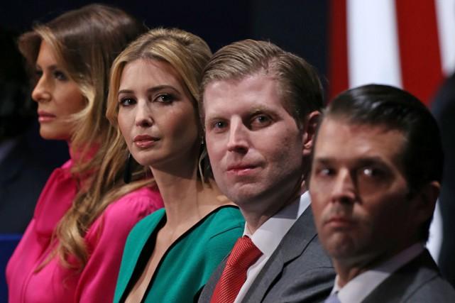 Trois des enfants de Donald Trump, Ivanka, Eric... (Archives AFP)