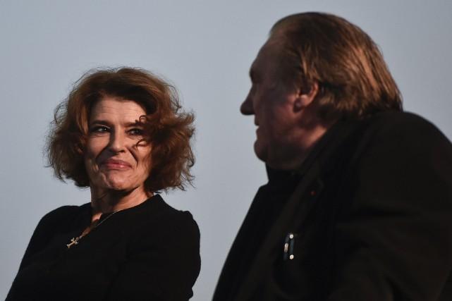Fanny Ardant etGérard Depardieu... (PHOTO PATRICIA DE MELO MOREIRA, AGENCE FRANCE-PRESSE)