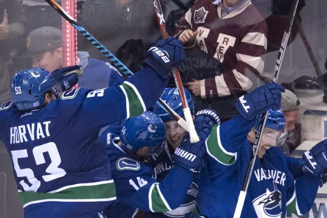 Markus Granlund a marqué en prolongation alors que les Canucks de Vancouver ont... (Photo La Presse Canadienne)
