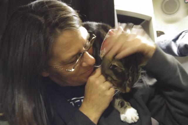 Marie Munro a retrouvé son chat Turtle samedi,... (tirée de Facebook)