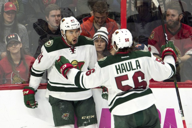 Matt Dumba a marqué le but de la victoire alors que le Wild du Minnesota a... (Photo La Presse Canadienne)