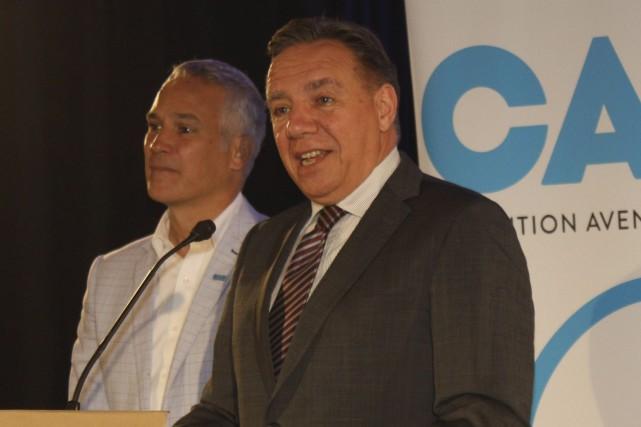 Le chef de la Coalition avenir Québec, François... (Archives La Tribune, Yanick Poisson)
