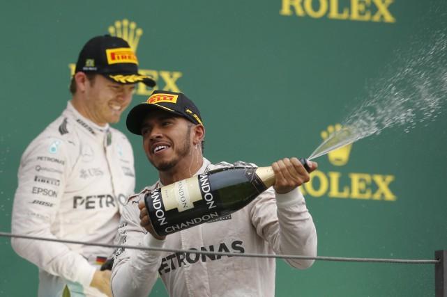 Lewis Hamilton partait de la pole et n'a... (Associated Press)