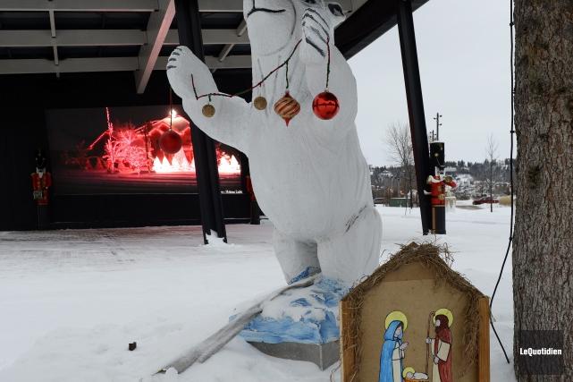 L'an dernier, le mouvement Tradition Saguenay avait installé... (Archives Le Quotidien)