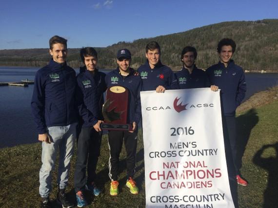 L'équipe masculine de cross-country du Cégep de Sherbrooke... (Courtoisie)