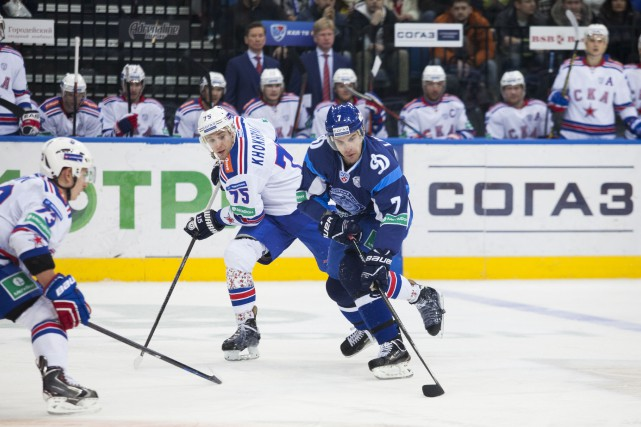 La Ligue continentale de hockey (KHL) songe à se défaire de quelques clubs en... (Photo fournie par le Dinamo de Minsk)