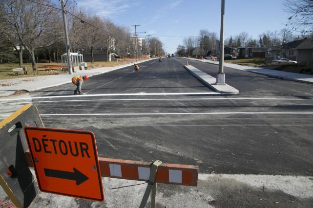 La réouverture complète du boulevard de Portland devrait... (Spectre Média, René Marquis)