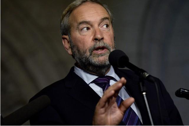 Pour Mulcair, un homme «qui s'est vanté de... (Photo archives La Presse Canadienne)