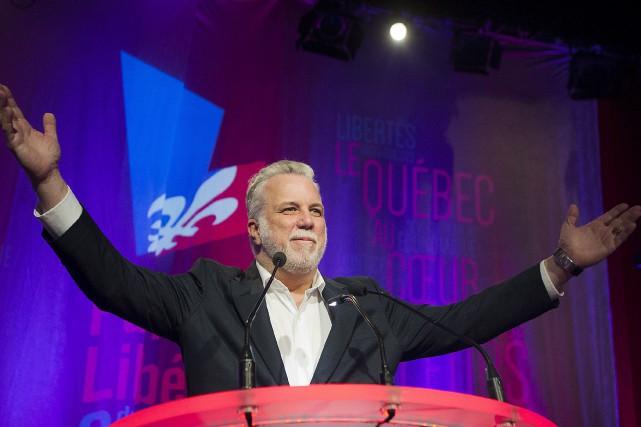 Le premier ministre, Philippe Couillard, auconseil généraldu Parti... (La Presse canadienne, Graham Hughes)