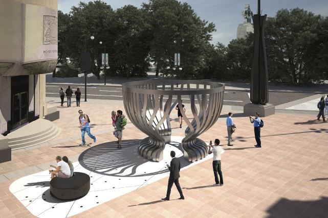 On sait finalement à quoi ressemblera le monument à la coupe Stanley qui sera... (Courtoisie)