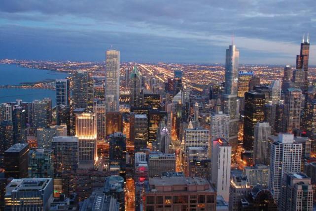Les grandes villes américaines comme Chicago (photo) se... (Archives La Presse)