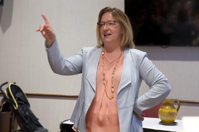 La conseillère etcandidate à la mairie en 2017,... (Martin Roy, Archives LeDroit)