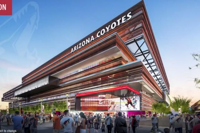 Voici une esquisse préliminaire du projet d'amphithéâtre présenté... (image tirée du compte twitter des Coyotes de l'Arizona)