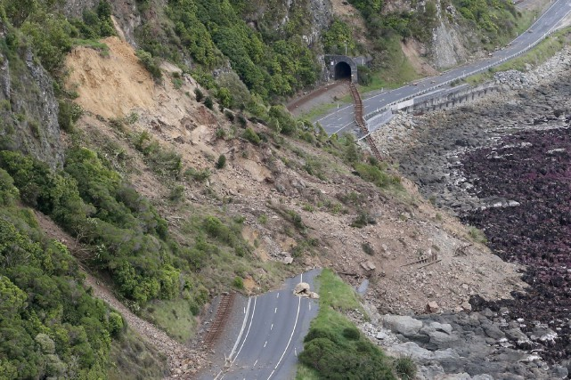 Le tremblement de terre de magnitude7,8, qui a... (Photo Mark Mitchell, Agence France-Presse)