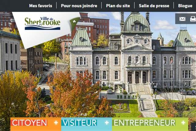 La refonte complète dusiteinternet de la Ville de Sherbrooke coûtera environ... (Capture d'écran)