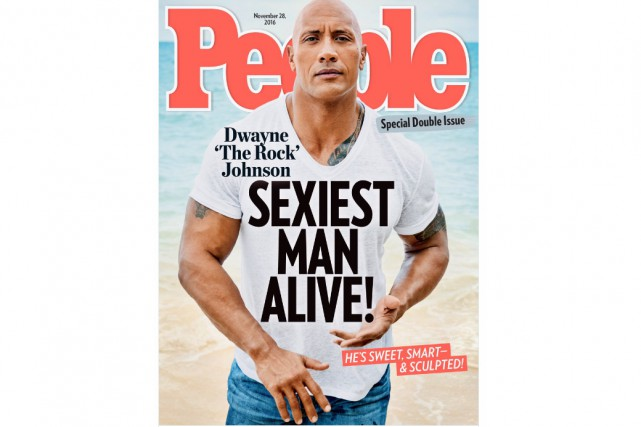Dwayne «The Rock» Johnson a été élu l'homme le plus sexy par People... (CAPTURE D'ÉCRAN)