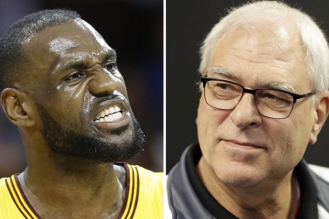 Phil Jackson (à droite) a utilisé un terme... (Photos archives AP)