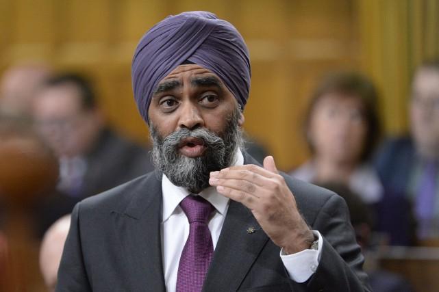 Le ministre de la Défense, Harjit Sajjan.... (Archives, La Presse canadienne)