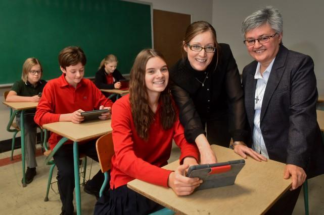 Marie-Hélène Boucher, directrice des services pédagogiques à Keranna,... (François Gervais, Le Nouvelliste)