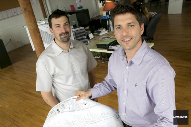 Mathieu Chagnon, président de Rackam, et Jacques-Alexandre Fortin,... (Archives, La Tribune)