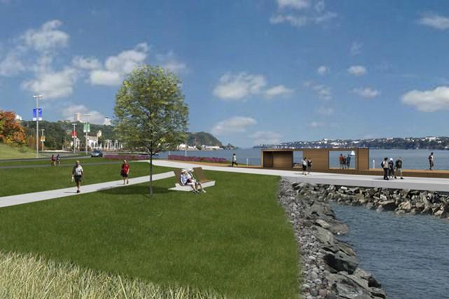 La prolongation de 2,5 km entre la côte... (image fournie par la Commission de la Capitale Nationale du Québec)