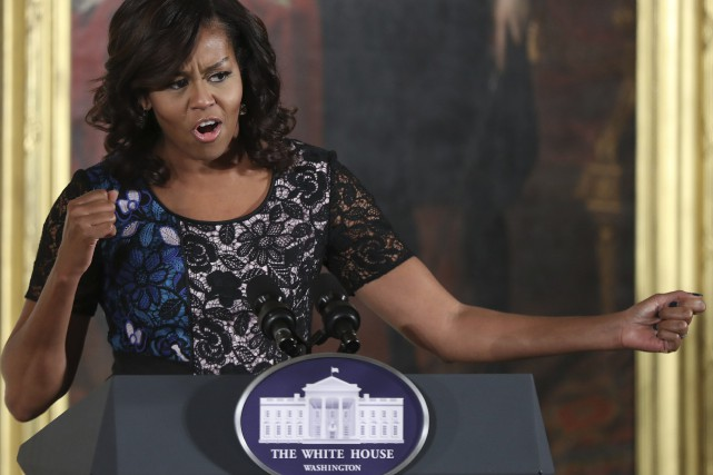 Michelle Obama... (PHOTO Manuel Balce Ceneta, AP)
