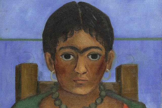 Le portrait peint en 1929, intituléNiña con collar(Fille... (AP)