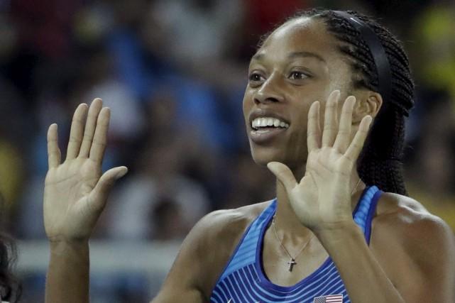 La sprinteuse Allyson Felix a déclaré aux responsables... (AP, Matt Dunham)