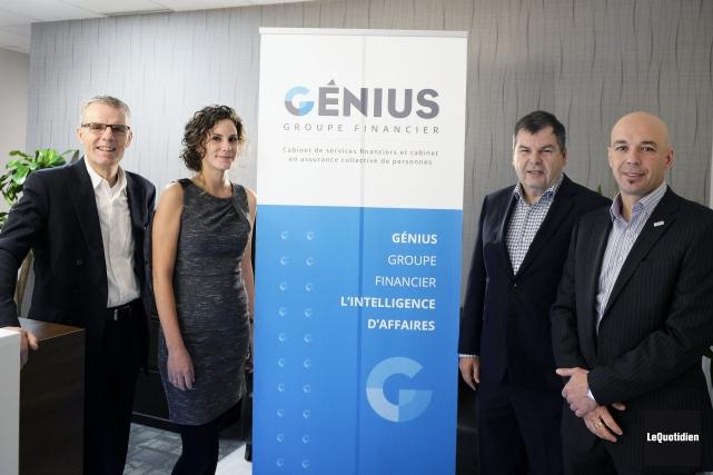 Les associés Jean-Pierre Gauvreau, Émilie Gauvreau, Serge Gravel... (Photo Le Quotidien, Jeannot Lévesque)