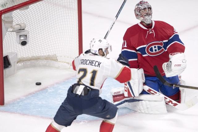 Vincent Trocheck, des Panthers de la Floride, célèbre... (La Presse canadienne, Ryan Remiorz)