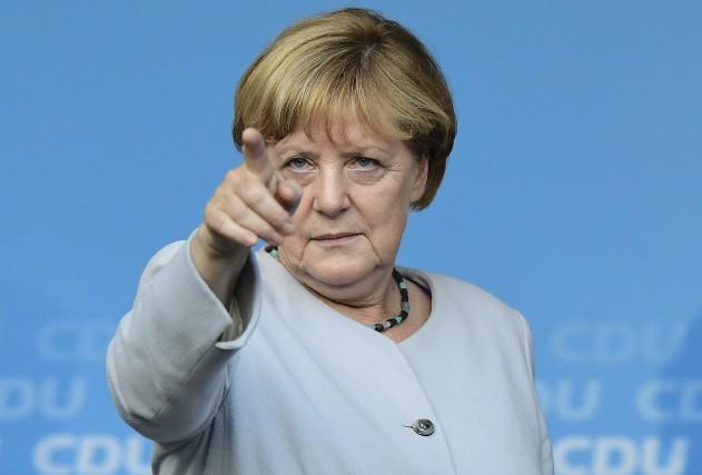 La chancelière allemande Angela Merkel, le 14 septembre... (AFP, Tobias Schwarz)