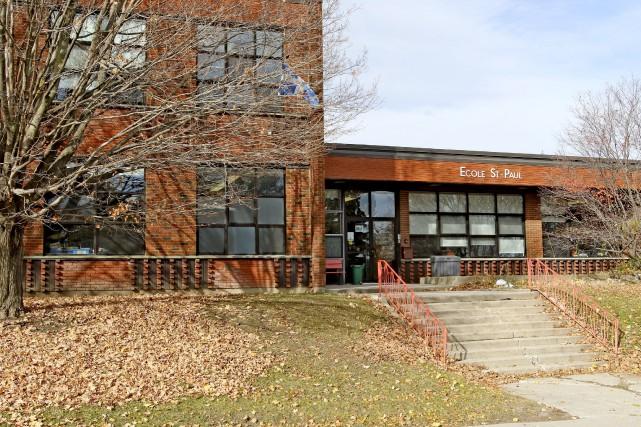 L'école primaire Saint-Paul demeurera fermée pour le reste... (Patrick Woodbury, LeDroit)