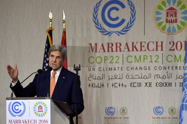 Le secrétaire d'État américain John Kerrya affiché mercredi... (Photo Mark Ralston, REUTERS)