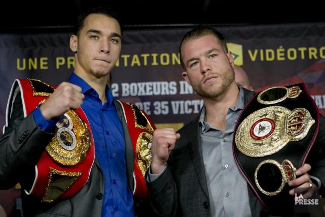 Steven Butler et Brandon Cook... (Photo David Boily, La Presse)