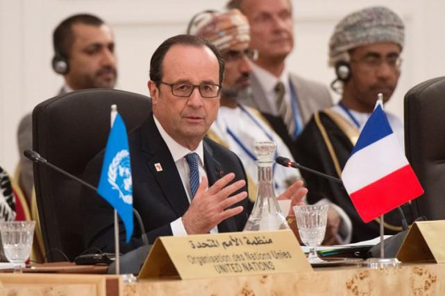 Ce sommet a accueilli une quarantaine de dirigeants... (PHOTO AFP)