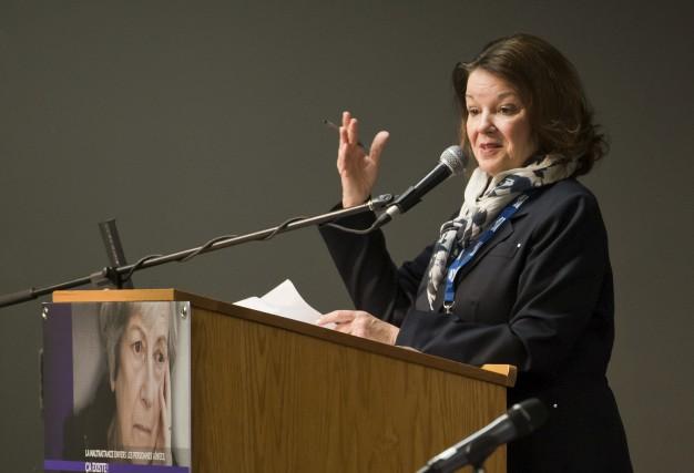 La présidente-directrice générale du CIUSSS de l'Estrie -... (Spectre Média, Jessica Garneau)